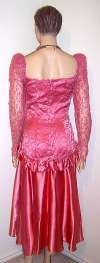 Rose Pink & Lace Party / Prom Tango Dress ~ 9/10 NWT