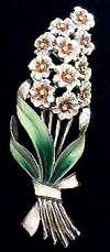 Coro Lilac Floral Spray Brooch